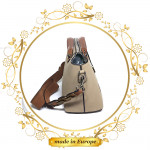 Brown Leather Handbag For Women, Handmade (#1007)