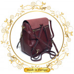 Purple Leather Backpack For Women, Handmade (#1008)