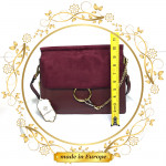 Purple Shoulder Bag For Women, Handmade (#1012)