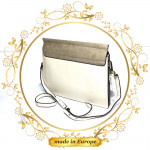 White Shoulder Bag For Women, Handmade (#1013)