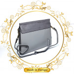Grey Shoulder Bag For Women, Handmade (#1014)