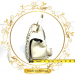 White Crossbody Bags For Women, Handmade (#1015)