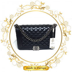 Black Crossbody Bags For Women, Handmade (#1017)