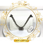White Crossbody Bags For Women, Handmade (#1019)