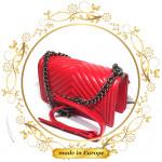 Red Crossbody Bags For Women, Handmade (#1020)