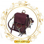 Purple Leather Backpack For Women, Handmade (#1024)