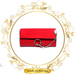 Red Ladies Wallet, Handmade (#1043)