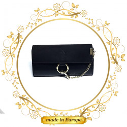 Black Ladies Wallet, Handmade (#1044)